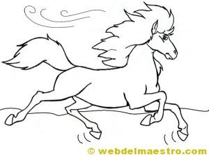caballos para colorear