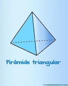 Figuras geometricas tridimensionales primaria: piramide triangular