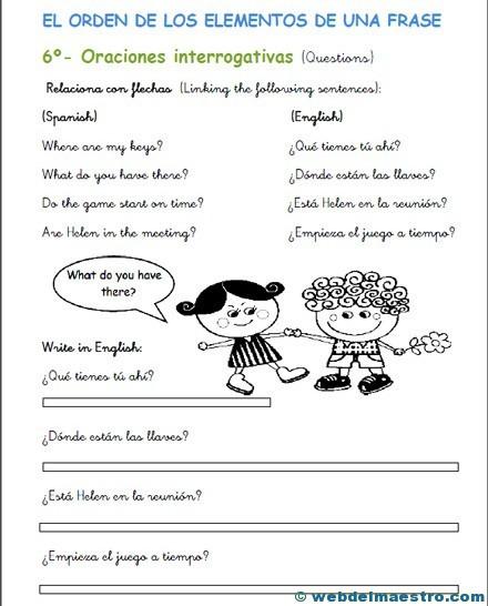 Frases En Inglés Web Del Maestro
