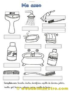 Higiene personal web del maestro for Objetos para banarse