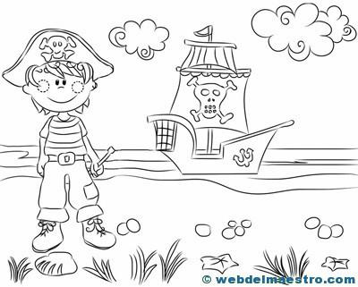 Dibujos para colorear de piratas-4