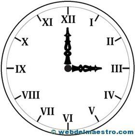 Reloj Con Numeros Romanos Para Colorear Númerosromanosreloj Web Del
