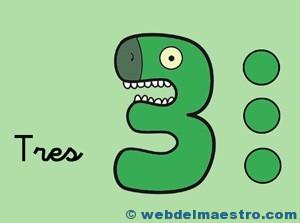 Fichas de números-el 3
