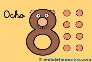 Fichas de números-El 8