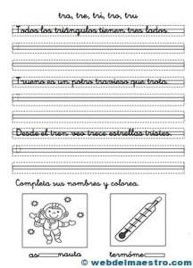 Ejercicios de caligrafía y ortografía - Web del maestro