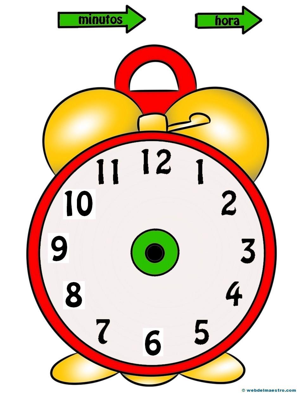 Relojes para aprender la hora-2-color- Web del maestro