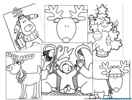 Dibujos de Navidad para colorear-
