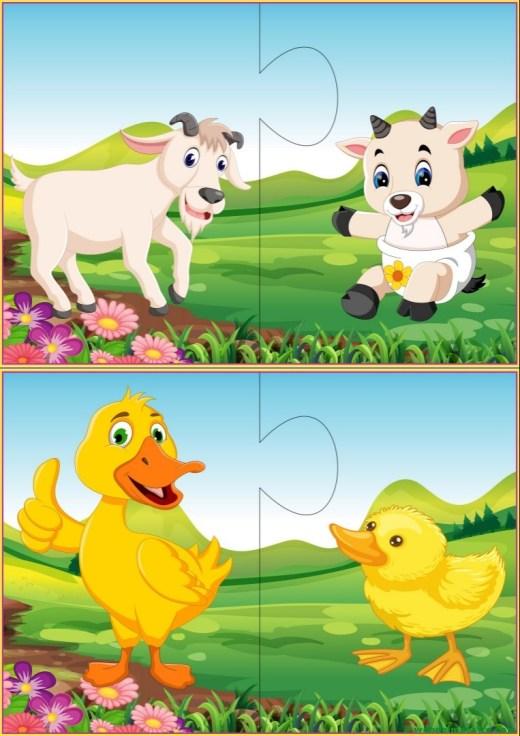 Puzzles infantiles para niños de 2 a 3 años-III