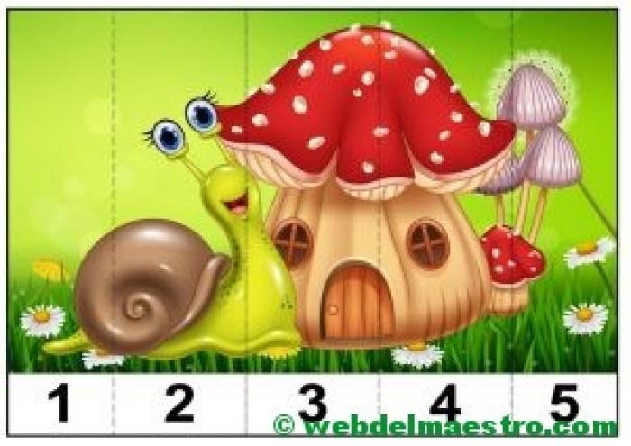 puzzles infantiles para aprender los números-3