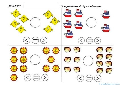 Fichas de matemáticas infantil-2