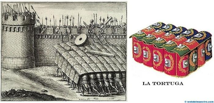 La tortuga del ejército romano