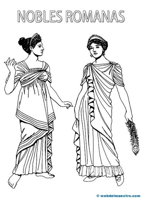dibujo de emperador romano para colorear