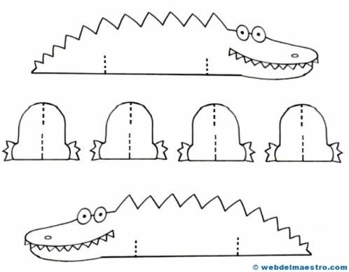 Manualidades fáciles y rápidas-cocodrilo