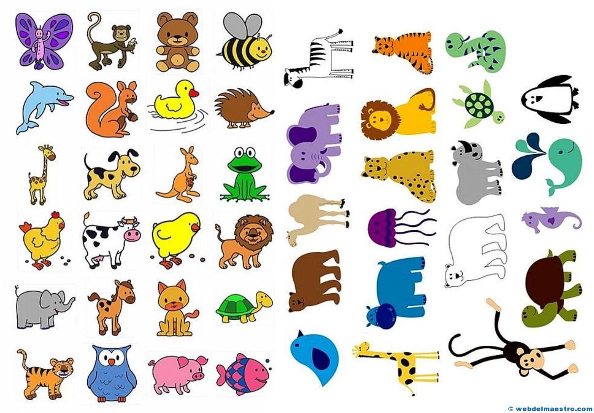 Dibujos De Animales A Color Para Imprimir: Pictogramas Para Imprimir De Animales