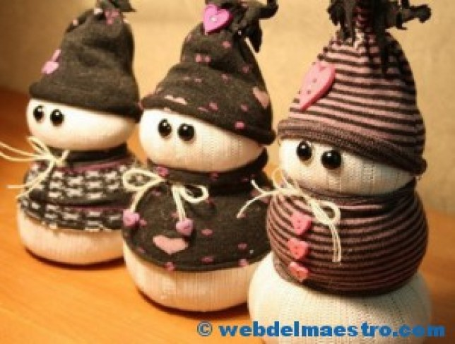 Manualidades de Navidad-Muñeco de nieve-3