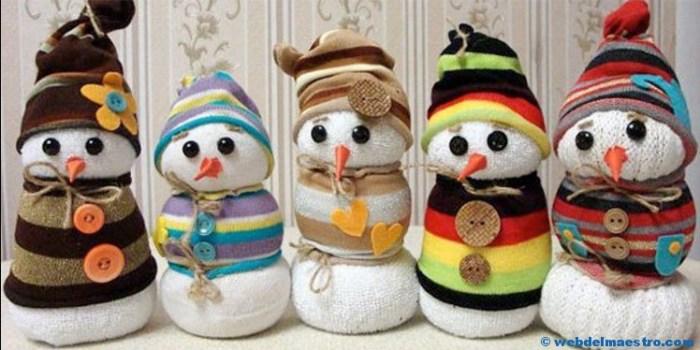 Manualidades de Navidad-Muñeco de nieve