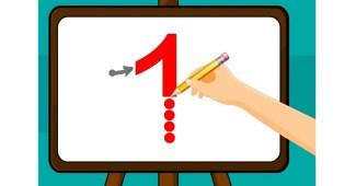 Cómo enseñar el número 1-Trazo del número 1
