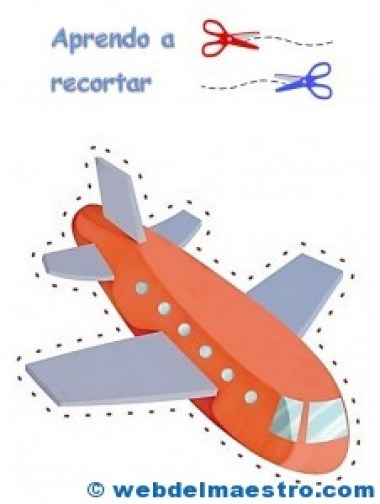 Avión para recortar
