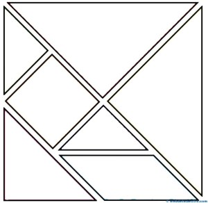 Piezas tangram para colorear-2