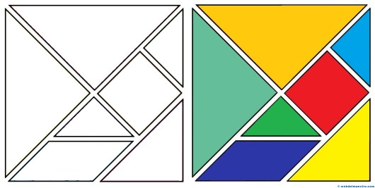 Qué es un tangram