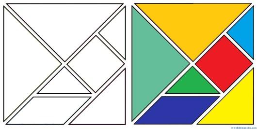 Qué es un tangram