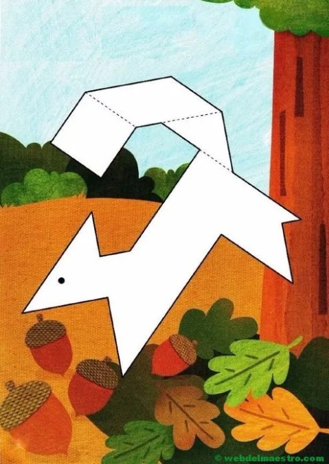 Figuras de tangram para completar