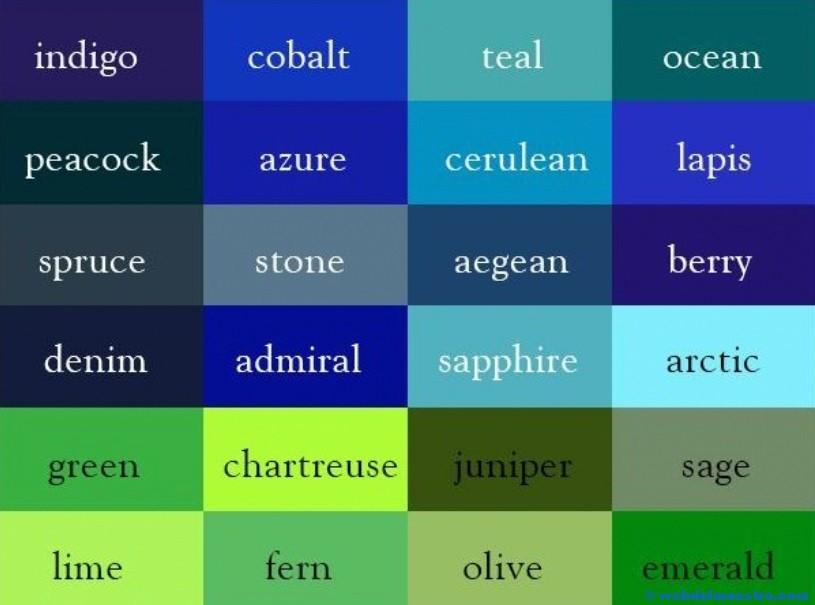 Colores en inglés - Web del maestro