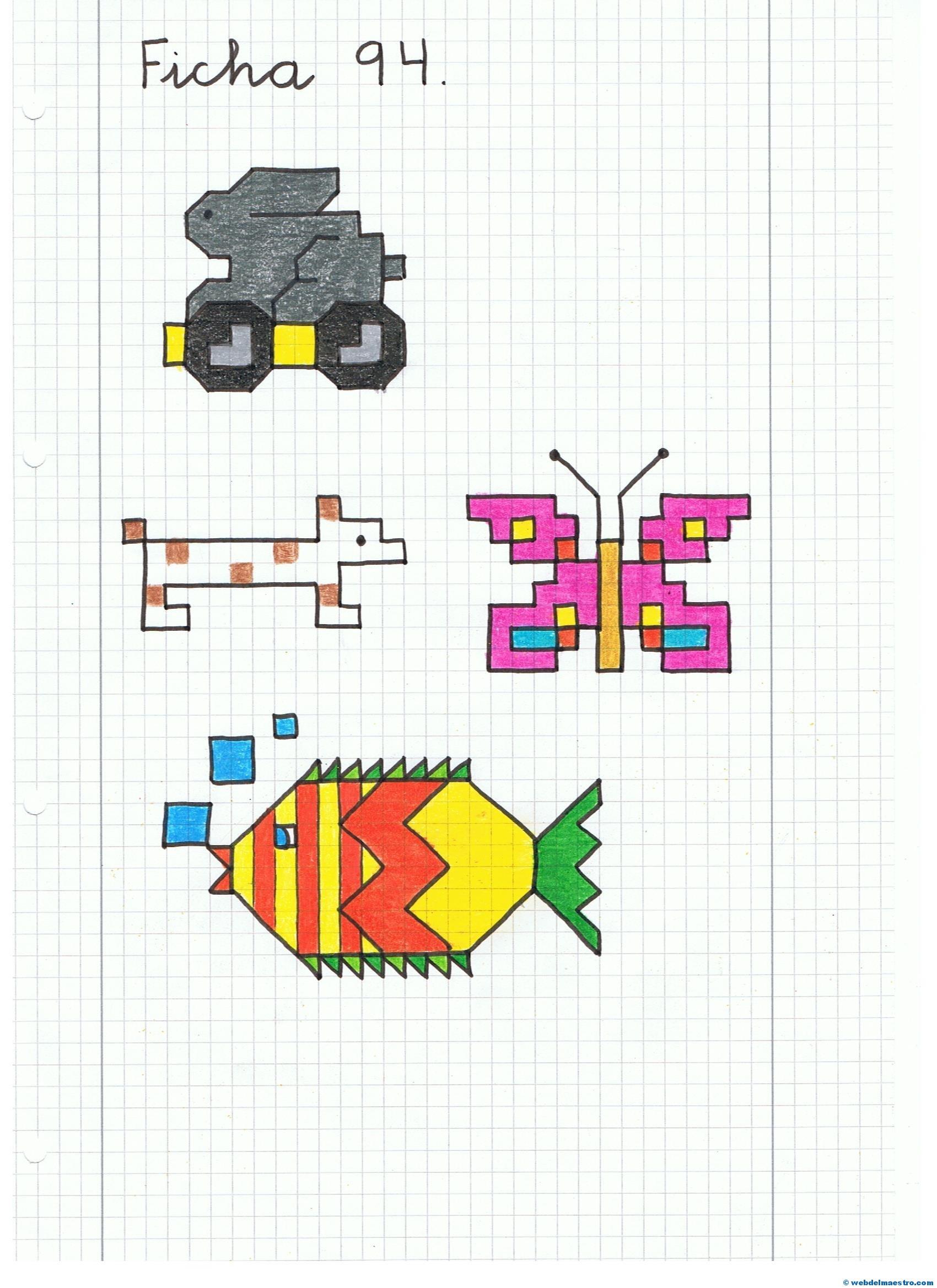 Dibujos en cuadrícula (II) - Web del maestro