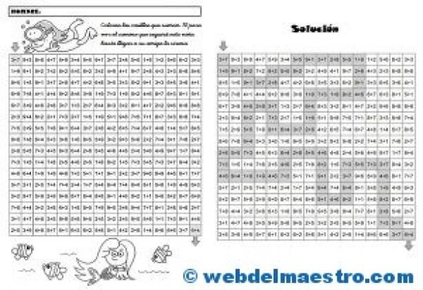Juegos de Matemáticas-Sigue las sumas-4
