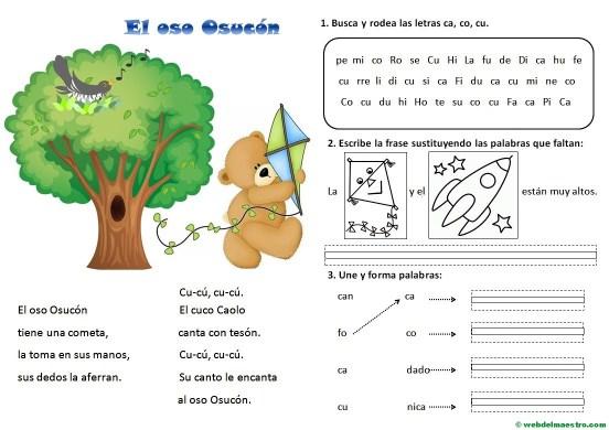 Lectura-Aprender a leer paso a paso-Letras ca-co.cu