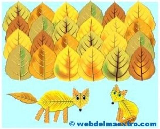 bosque-de-otono-con-zorros