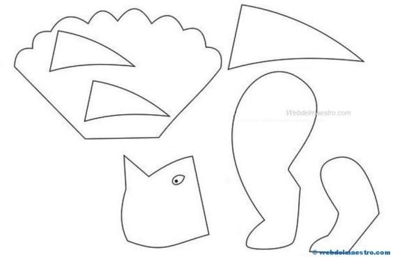 Manualidades faciles- Dinosaurio 1-