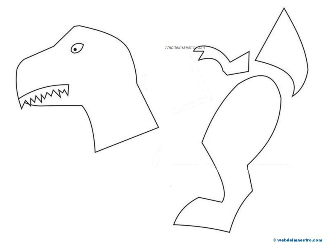 Plantillas Dinosaurios Para Imprimir