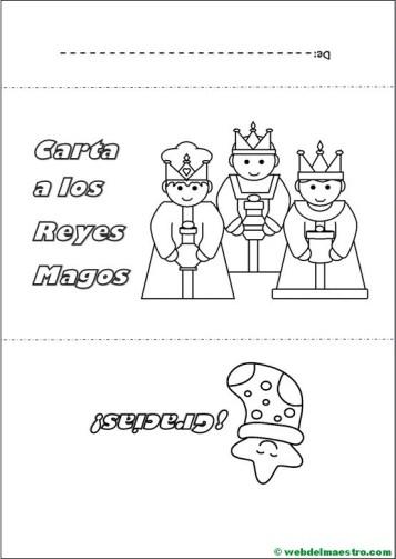 Sobre para carta a los Reyes Magos