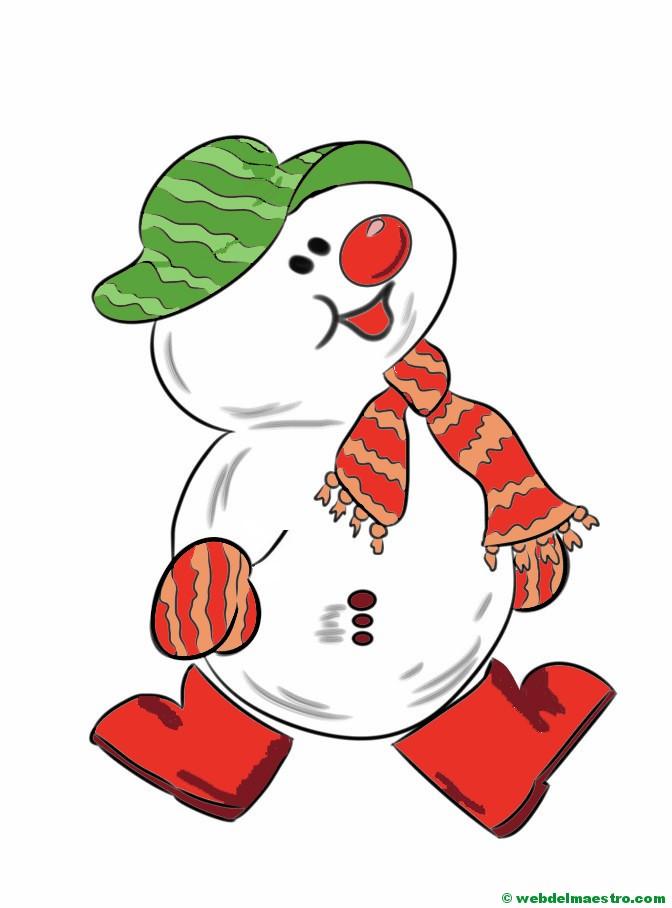 Muñeco de nieve (en varias versiones) - Web del maestro