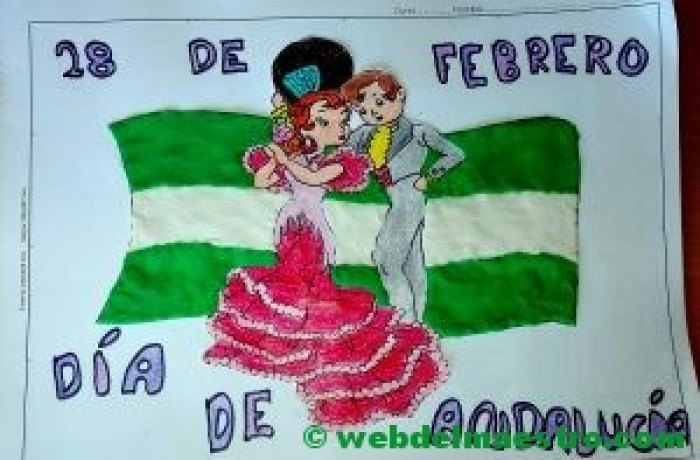 Dibujo Dia de Andalucía con plastilina