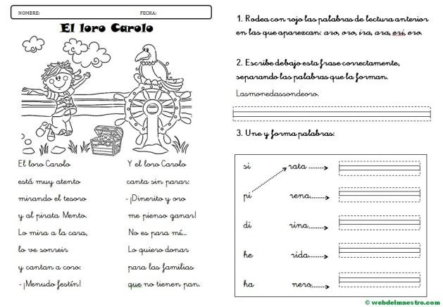 Lecturas infantiles paso a paso-Lectura r suave-con actividades-letra cursiva