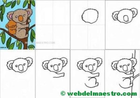 Como dibujar un koala para descargar e imprimir-1
