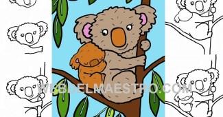 Como dibujar un koala