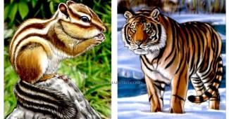 Dibujos de animales salvajes para imprimir