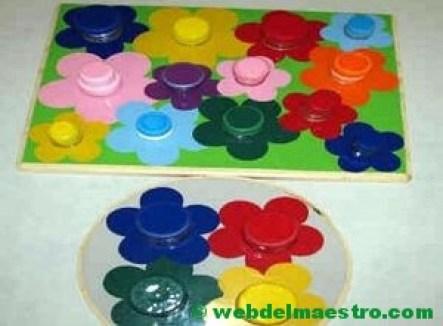 Enroscar y desenroscar tapones de botellas-decoración flores