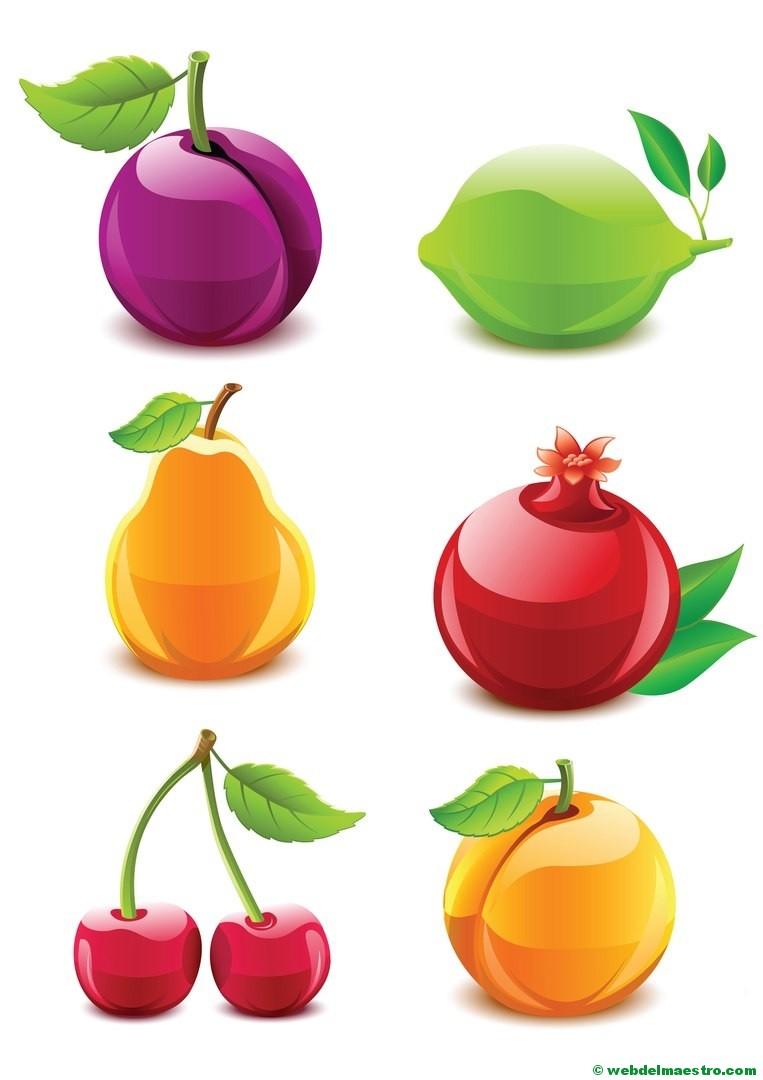 Dibujos de frutas y verduras - Web del maestro