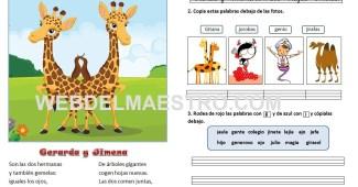 Lecturas infantiles-letras G-J