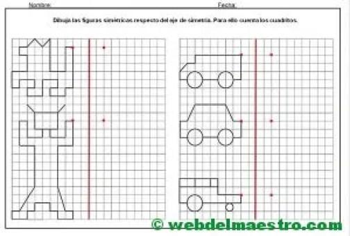 Dibujos simetricos en cuadricula-2