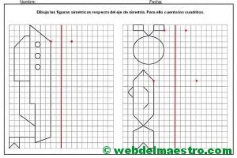 Dibujos simetricos en cuadricula-4