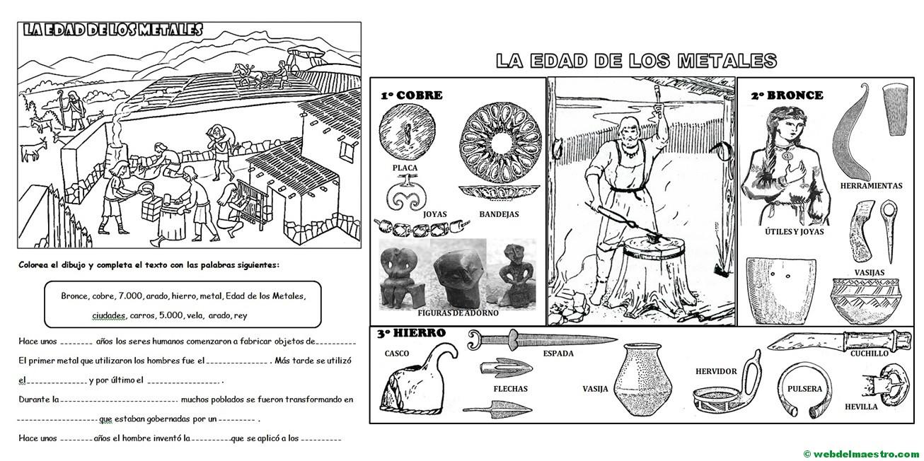 Edad De Los Metales Para Niños De Primaria Web Del Maestro