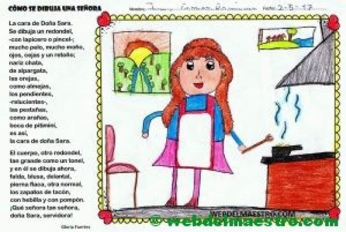 Poesía de Gloria Fuertes-Cómo se dibuja una señora-