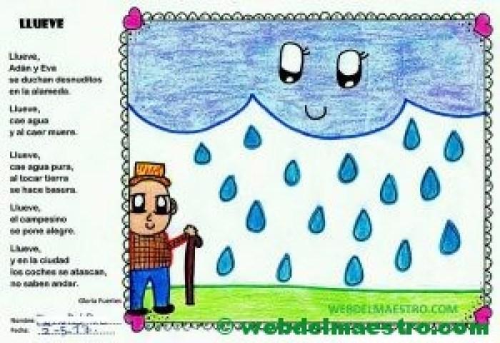 Poesía de Gloria Fuertes ilustrada- llueve