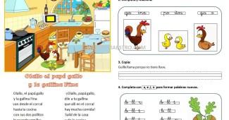 Lecturas infantiles-Sonido LL con actividades
