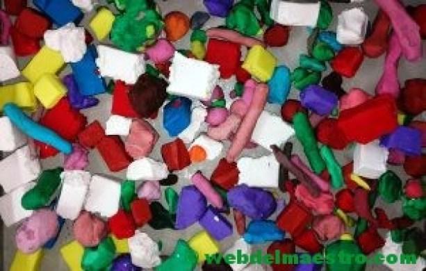 Plastilina troceada-colores surtidos